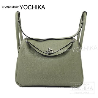 HERMES Hermes 2way shoulder bag Lindy 26 those (SAGE) Trillin silver metal brand new (HERMES Shoulderbag Lindy 26 Sauge Taurillon Clemence) # I'm Chika