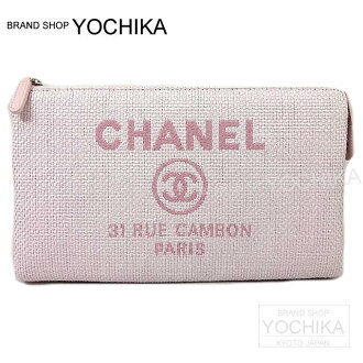 2016 년 신작 CHANEL 샤넬도 빌 클러치 파우치 가방 로즈 클레어 A80797 신품 (2016 NEW CHANEL Deauville CLUTCH POUCH Rose Clair Pink A80797 [Brand New \ Authentic]) # よち 또는