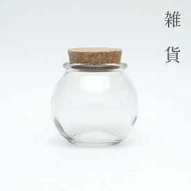 ガラス瓶 木口106球 1本【小分け販売】広口瓶 広口ビン ガラス保存容器 ガラスビン ガラス容器 クラフト ハンドクラフト ハーバリウム 雑貨 コルク瓶