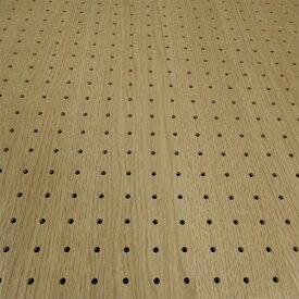 条件付き送料無料★床材本舗オリジナル【有孔ボード】UKB-MO-2457-31 5φ25ピッチ 木目調 メドレーオーク 強化紙+合板 パンチング穴あきボード 厚さ4mm 910×1820 1枚入り