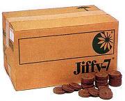 ジフィーセブン 42mm 1000個入 業務用 培養土 ピートモス 花壇 花苗 家庭菜園 種まき 育苗 野菜