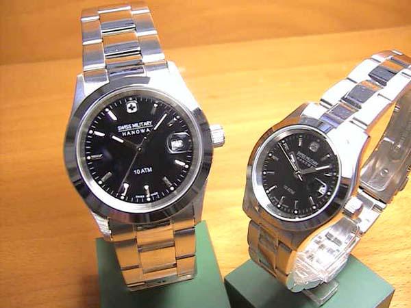 スイスミリタリー 腕時計 SWISS MILITARY ペアウォッチ エレガント ペアウォッチ 【文字盤カラー ブラック】