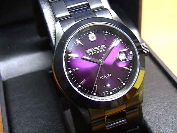 スイスミリタリー 腕時計 エレガント ML189 メンズ 35mm 【文字盤カラー パープル】 ☆日本全国=北は北海道、南は沖縄まで送料580円でお届けけします☆