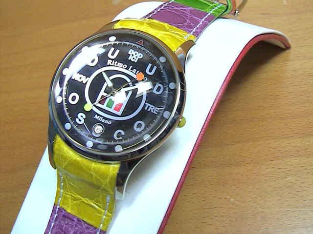 リトモラティーノ 腕時計 FINO (フィーノ)マルチカラーベルト レディースサイズです。【文字盤カラー ブラック】メンズもあります  ★日本全国=北は北海道、南は沖縄まで送料0円 【送料無料】でお届けけします★