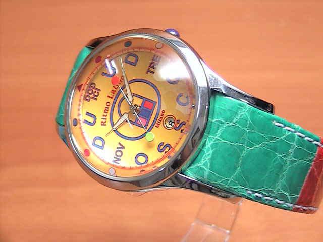 リトモラティーノ 腕時計 FINO (フィーノ) マルチカラーベルト  メンズサイズです。 レディースもあります 【文字盤カラー イエロー】 ★日本全国=北は北海道、南は沖縄まで送料0円 【送料無料】でお届けけします★