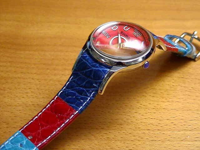 リトモラティーノ 腕時計 FINO (フィーノ) マルチカラーベルト レディースサイズです。 メンズもあります 【文字盤カラー レッド】 ★日本全国=北は北海道、南は沖縄まで送料0円 【送料無料】でお届けけします★