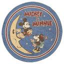 ディズニー ラウンドラグマット「ミッキー&ミニー ゴールデンエイジ」2215019200【あす楽】円型フックマット70cm イ…
