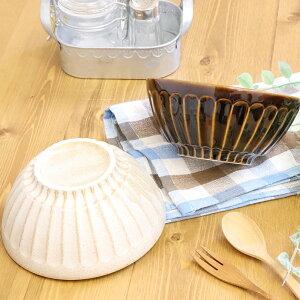 【2色set】Cafeボウル 日本製 美濃焼 陶磁器 ボウル 鉢 茶 白 スープ 丼 サラダ お茶漬け 食器 キッチン用品