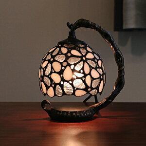 ステンドグラス ランプ おしゃれ 吊り型 スタンド ティファニー テーブルランプ 卓上 照明器具 テーブルランプ ホワイト ギフト ガラス