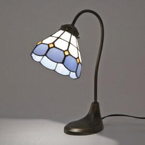 ステンドグラスランプ スタンドランプ テーブルランプ アンティーク ステンドランプ グースネック ステンドガラス 卓上照明 間接照明