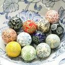 浮き玉 浮き球 陶器製 中 4cm 12個セット 水鉢 ビオトープ 置物 飾り物 メダカ鉢 金魚鉢