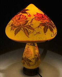 ガレ調ランプ ハイビスカス 花柄 テーブルランプ 硝子工芸 間接照明 おしゃれ ギフト