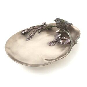 アクセサリートレー 小物入れ 鍵置き アンティーク ブロンズ仕上げ 小鳥 ミニトレイ バード ジュエリー プレゼント