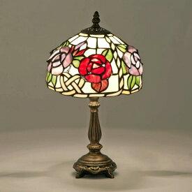ステンドグラス ランプ 薔薇柄 立体 バラ 花柄 テーブルランプ 卓上照明器具 ナイトランプ ライト プレゼント ギフト