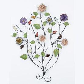 アイアン ウォールデコレーション フラワー 花 お洒落な壁掛け飾 インテリア ディスプレイ オブジェ おしゃれ 可愛い かわいい 壁掛 花 置物 鉄製 北欧 アンティーク クラシック