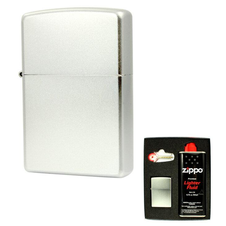 [ジッポー] ZIPPO スタンダード クローム マット仕上げ オリジナルギフトボックス付 ギフトセット 205 バレンタイン ギフト