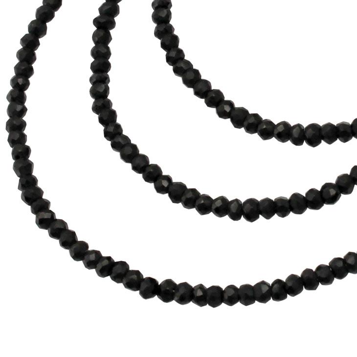【ポイント15% スーパーDEAL】 LARA Christie (ララクリスティー)ブラック スピネル ネックレス クリスマス 【gift_d18】