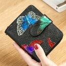 【【送料無料!】全5色かわいい 蝶々 フラウー財布 レディース レディース財布 レディース長財布 可愛