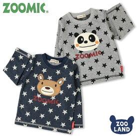 [メール便送料無料]<トップス 長袖>ZOOMIC 星ジャガードAPTシャツ(100-120cm)【ZOOMIC】