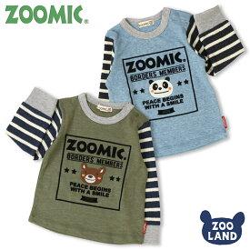 [メール便送料無料]<トップス 長袖>ZOOMIC 袖ボーダーAPTシャツ(100-120cm)【ZOOMIC】