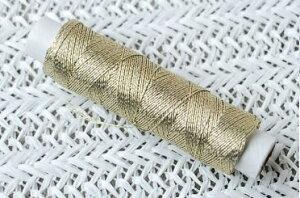手縫い糸/刺繍糸 金イエローゴールド (100m巻)