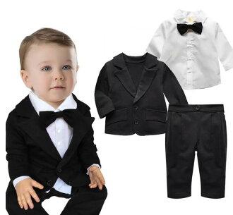 78030870ddf05 Boys suit baby suit 3-point set jacket blouse pants formal boys formal kids  clothes
