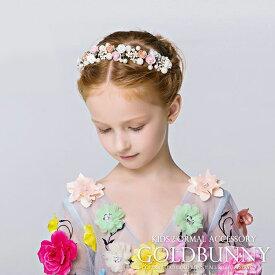 5b6c051cd532c 子供髪飾り 発表会 ヘアアクセサリ 花 フラワーティアラ 花冠 ヘッドドレス 結婚式 フラワー