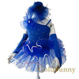 【訳あり】鮮やかなブルーで舞台晴れする バレエレオタード ダンスコスチューム レオタード バレエ ダンスガール ダンス チュール 90 100 110 120 130 140
