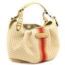 CELINE Celine macadam pattern handbag Lady s yellow canvas leather ae35f5ffa543a