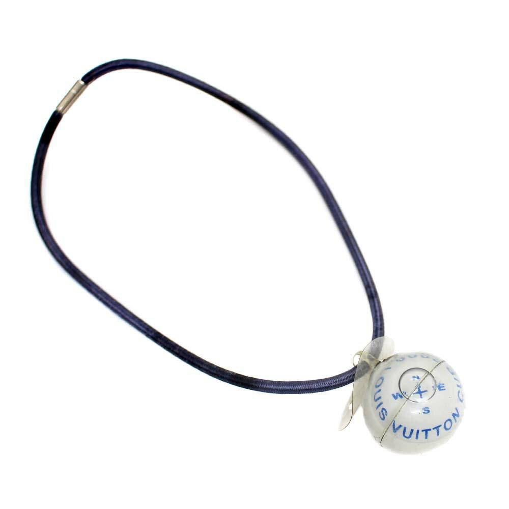 【中古】LOUIS VUITTON ルイ ヴィトン ヴィトンカップ 2000年限定 ゴムバンド 磁石 チャーム ユニセックス ブルー/ホワイト プラスチック ゴム