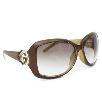 GUCCI Gucci GG bamboo sunglasses Lady's brown plastic rhinestone GG3068F/S