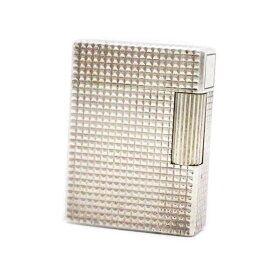 【中古】Dupont デュポン ガスライター ダイヤモンドヘッド ライター ユニセックス シルバー メタル