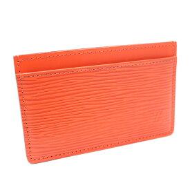 【中古】LOUIS VUITTON ルイ ヴィトン ポルト カルト サンプール エピ カードケース レディース オレンジ エピレザー M60721