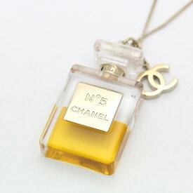 0c6f2108715a 【中古】CHANEL シャネル NO5 ボトル 香水 ロング ココマーク ネックレス レディース ゴールド GP