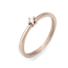【中古】4℃ ヨンドシー 1PD リング・指輪 レディース 8号 ピンクゴールド K10ゴールド ダイヤモンド ジュエリー