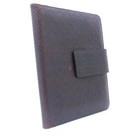 【中古】GUCCI グッチ ディアマンテ iPad ケース その他小物 ユニセックス ダークブラウン レザー 283782