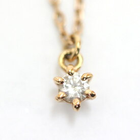【中古】4℃ ヨンドシー ネックレス レディース ゴールド K10ピンクゴールド ダイヤモンド ジュエリー【新品仕上げ済み】