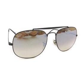 【中古】Ray-Ban レイバン ジェネラル ミラー サングラス メンズ シルバー グラデーション ブラック メタル ガラス RB3561