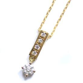 【中古】4℃ ヨンドシー ネックレス レディース イエローゴールド ダイヤモンド K18ゴールド ジュエリー