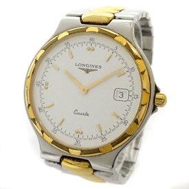 【中古】LONGINES ロンジン コンクエスト 腕時計 メンズ クオーツ ホワイト文字盤 L1.614.3