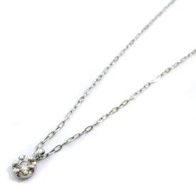 【中古】4℃ ヨンドシー 1P ダイヤ ネックレス レディース プラチナ Pt850プラチナ ダイヤモンド ジュエリー