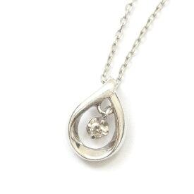 【中古】4℃ ヨンドシー カナル ネックレス レディース シルバー K10ホワイトゴールド ダイヤモンド ジュエリー