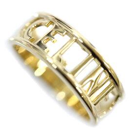 【中古】CELINE セリーヌ ロゴ デザイン リング・指輪 レディース 12号 ゴールド K18イエローゴールド ジュエリー【新品仕上げ済み】