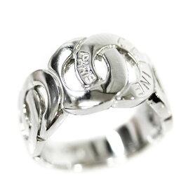 【中古】CELINE セリーヌ ダブル サークル ロゴ リング・指輪 レディース 10.5号 プラチナ Pt900プラチナ ジュエリー【新品仕上げ済み】