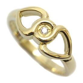 【中古】Christian Dior クリスチャンディオール ダイヤモンド デザイン リング・指輪 レディース 8.5号 イエローゴールド K18ゴールド ジュエリー【新品仕上げ済み】
