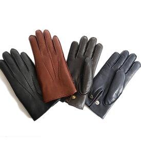 DENTS デンツ レザーグローブ 手袋 ラビットファー 15-1590 Lumley うさぎ (メンズ)