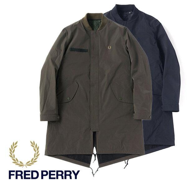 【SALE】Fred Perry フレッドペリー モッズパーカー ボンバーコート F2478 モッズコート ベスト付き (メンズ)