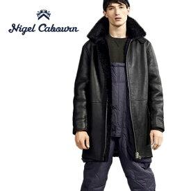 【SALE 30%OFF】ナイジェルケーボン × ピークパフォーマンス Nigel Cabourn × PEAK PERFORMANCE シープスキンコート ブラック 80352390000 (メンズ)