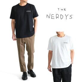 THE NERDYS ナーディーズ 刺繍 Tシャツ TS8C11 クルーネック 半袖 (メンズ)