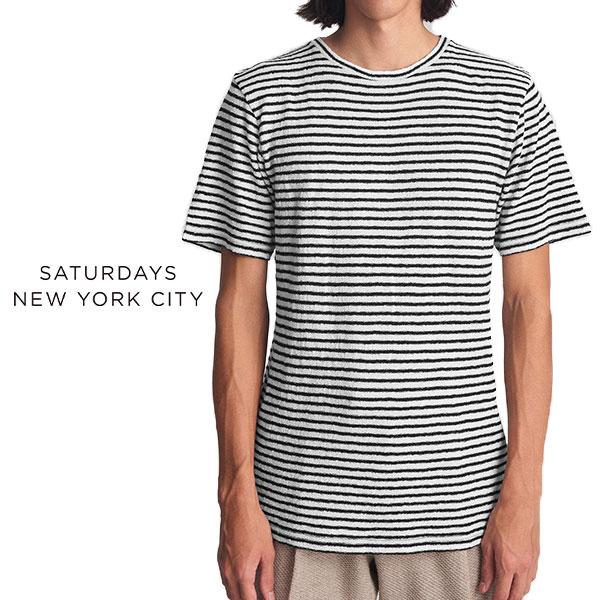 【SALE 30%OFF】Saturdays NYC サタデーズ ニューヨークシティ ジャージ ボーダーTシャツ M11811BR02 (メンズ)